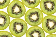 Background texture pattern of Kiwi fruit, slice of green juicy kiwi. isolated on white stock photo