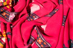 Background texture, pattern. Red maroon fabric. Click on your lo. Cal heritage with this red, bard and yellow striped silk. This patterned fabric will decorate stock images