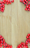 Background texture pattern of red rowan fruits frame (Sorbus) Royalty Free Stock Image