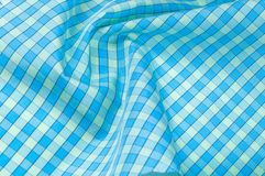 Background texture, pattern. thin cotton fabric in a blue and be stock photo
