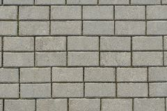 Surface of gray paving slabs stock photo