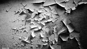 Background is a texture, peeling paint on an old wall. black and white Royalty Free Stock Photos