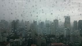 Background & texture. Photo of rain in the city Royalty Free Stock Photography