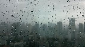 Background & texture. Photo of rain in the city Royalty Free Stock Photo