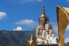 Background & texture. Photo of temple in thailand Royalty Free Stock Image