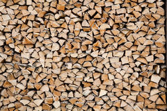 Pile of cutted wood Stock Photo