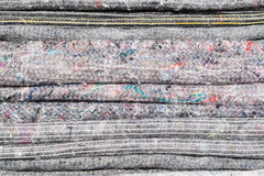 Background texture from a pile of grey blankets Royalty Free Stock Photo