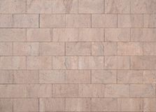 Pink granite blocks for interior or exterior walls Royalty Free Stock Images