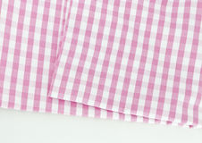 Background texture of pink plaid fabric Stock Photos