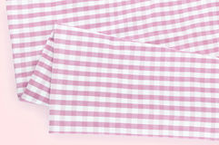 Background texture of pink plaid fabric Royalty Free Stock Photo