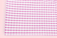 Background texture of pink plaid fabric Stock Photography