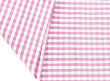 Background texture of pink plaid fabric Royalty Free Stock Photos