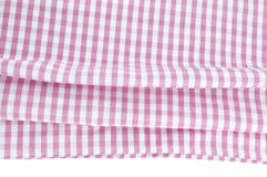 Background texture of pink plaid fabric Royalty Free Stock Image
