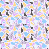 Background texture with pink, purple, blue and yellow colors. Textile or mosaic Royalty Free Stock Image