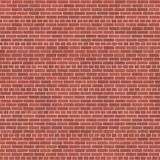 Background texture with red brick wall. And white mortar, common bond Stock Photo