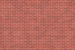 Background texture with red brick wall. And white mortar, running bond Stock Photography