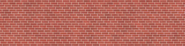 Background texture with red brick wall. And white mortar, stretcher bond Royalty Free Stock Images