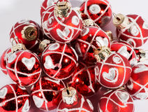 Background texture of red Christmas baubles Royalty Free Stock Photography