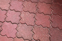 Background texture of red modern cobblestone Royalty Free Stock Photography