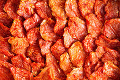 Background texture of ripe red sundried tomatoes Royalty Free Stock Photography