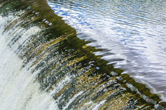 Background texture of running water in the river dam Stock Photography