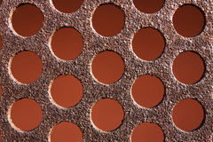 Background texture rusty metal pattern. Iron circles rusty pattern background texture  metal Stock Photo