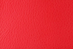Background with texture of scarlet leather Royalty Free Stock Image
