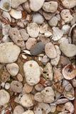 Sea stones pattern stock photography