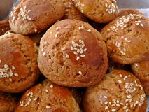 Sesame cookies. Background texture of sesame cookies Stock Photography