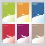 Background texture set vector six frame Green, orange, red, blue Stock Photos