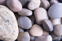 Background texture of smooth oceanic stones Royalty Free Stock Image