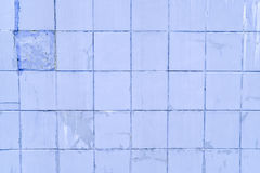 Background, texture square tiles, blue on the whole frame. Horizontal frame Royalty Free Stock Images