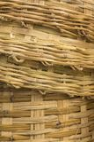 Bamboo stack basket weave background. Background of texture of stack big bamboo basket weave Stock Image