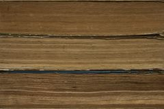 Background, texture of stacked old books stock photography