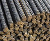 Background texture of steel rods Royalty Free Stock Photography