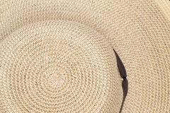 Background texture of a straw sunhat Royalty Free Stock Photography