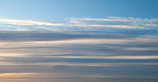 Background texture: Stripes of windy clouds Royalty Free Stock Photo