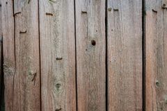 Background texture of untreated wooden boards in the open air royalty free stock photos