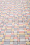 Background, texture of urban multicolored pavers on the whole frame. Vertical frame Royalty Free Stock Photography