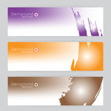 Background texture vector set three frame orange, purple, brown and Stock Photos