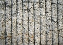 Vertical grooved concrete wall Royalty Free Stock Image
