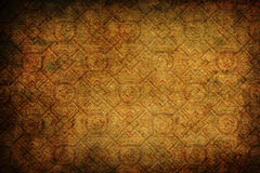 Background texture with vintage pattern. Brown background texture with vintage pattern and darker vignette Stock Photo