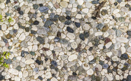 Background texture walkway lined with small stones stock photos