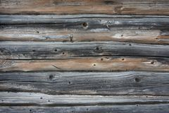 Background texture of a wall of old wooden logs and boards. Background texture of wall of old wooden logs and boards royalty free stock photos