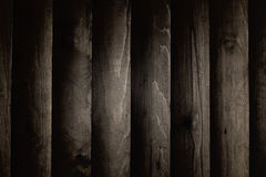 Background texture of the walls, dark wood planks. Stock Photos