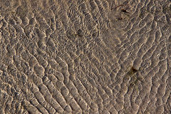 Background Texture - Water Ripples over Sand Stock Image