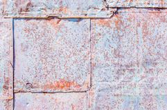 Background texture weathered tin squares. Background texture close up of weathered tin squares Royalty Free Stock Photo