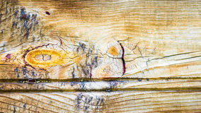 Background texture weathered wood with knot Stock Photos