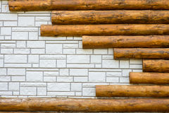 Background texture of white brick combined with Stock Image