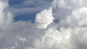 Background with white clouds. Background, texture with white clouds against blue sky stock video